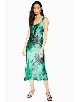 Tie Dye Built Up Slip Dress by Topshop