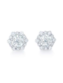 diamond-halo-stud-earrings by kwiat