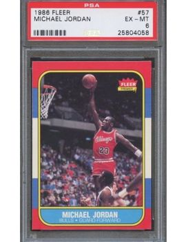 978392248fbef3 1986 87 Fleer Michael Jordan Rookie Rc Psa 6 Nba Basketball Card by Ebay  Seller