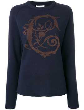 Baroque Lurex Intarsia Sweater by Chloé