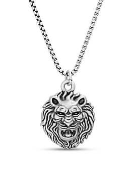 Lion Head Pendant Necklace by Steve Madden