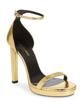 hall-genuine-snakeskin-platform-sandal by saint-laurent