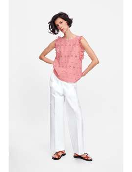 Openwork Embroidered Top New Inwoman by Zara