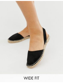 New Look Wide Fit Sling Back Espadrille In Black by New Look