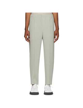 Grey Tapered Tailored Trousers by Homme PlissÉ Issey Miyake