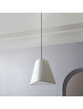Fabric Geo Shade Pendant   Small by West Elm