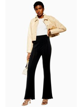 Knitted Ribbed Trousers by Topshop
