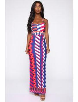 a8fdd04ff44 FASHION NOVA. SWEET TALK MAXI DRESS - ROYAL COMBO
