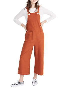 Texture & Thread Patch Pocket Overalls by Madewell