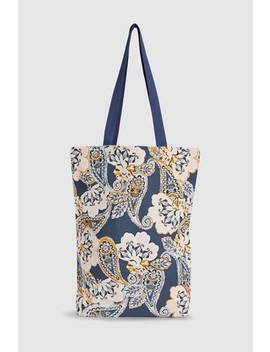 Multi Paisley Pattern Printed Shopper by Next