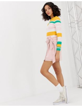 Only Cord Wrap Mini Skirt by Only