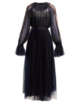 Bead Embroidered Tulle Gown by Valentino