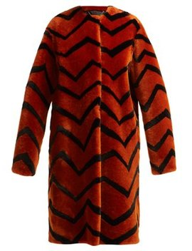 Zigzag Shearling Coat by Givenchy