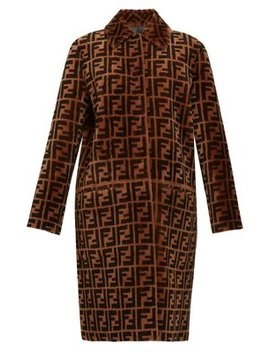 Reversible Ff Shearling & Leather Coat by Fendi