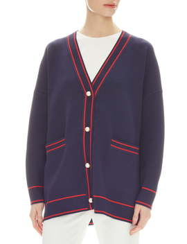 Gilberta Flag Embroidery Oversize Cardigan by Sandro