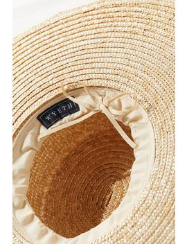 Uo Large Straw Boater Hat by Urban Outfitters