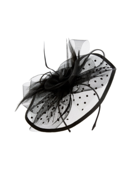 Dots Feather Fascinator by Tasha