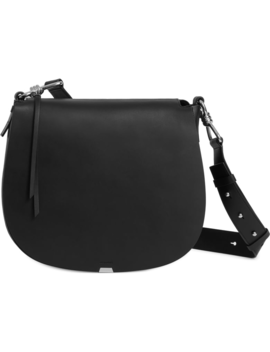 Captain Round Leather Shoulder Bag by Allsaints