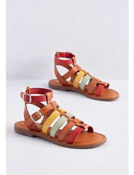 Hues To Behold Leather Sandal by Modcloth