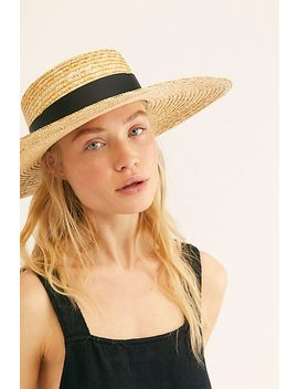 Palomino Straw Boater Hat by Free People