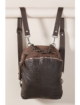 Joan Pebbled Leather Backpack by Daniella Lehavi