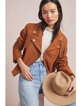 Frye Vaquera Suede Moto Jacket by Frye