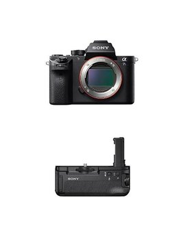 Sony Ilce7 Sm2/B Full Frame Mirrorless Interchangeable Lens Camera With Battery Grip Bundle by Sony