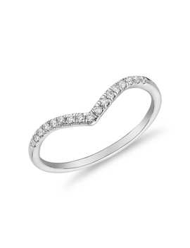 831fed7d0a6 Shoptagr | Petite Cathedral Pavé Diamond Ring In 14k White Gold (1/6 ...