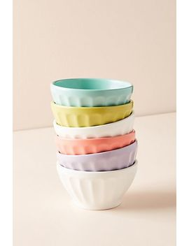 Mini Matte Latte Bowls, Set Of 6 by Anthropologie