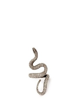 Diamond Pavé & Rhodium Plated Ring by Lynn Ban