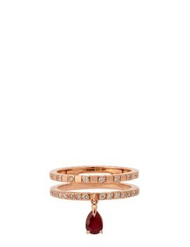Spectrum 18kt Rose Gold, Diamond & Ruby Ring by Diane Kordas