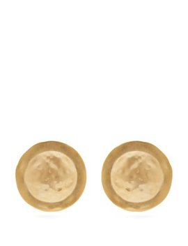 Shield Hammered Earrings by Loewe