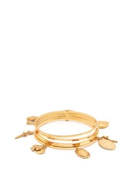 Charm Embellished Brass Bangle by Dolce & Gabbana