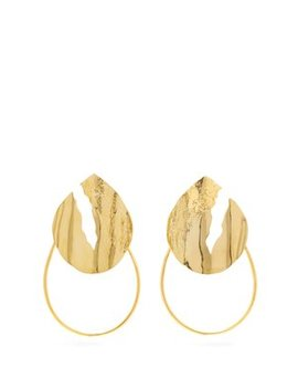 Sierra Gold Plated Hoop Earrings by Misho