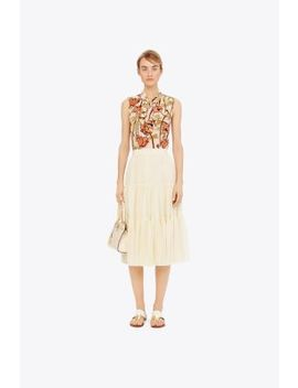 Printed Bow Blouse by Tory Burch