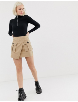New Look Body With Half Zip In Black by New Look