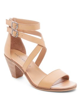 Ressia Leather Cone Heel Sandals by Lucky Brand