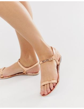 Asos Design Flame Flat Sandals by Asos Design