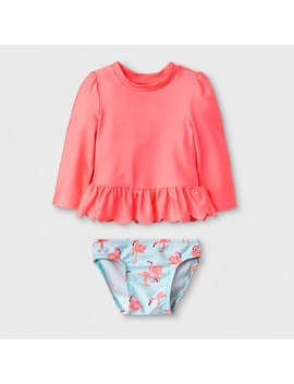 Baby Girls' Long Sleeve Rash Guard Set   Cat &Amp; Jack Pink by Cat & Jack Pink
