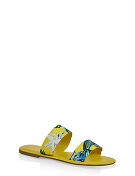 Printed Two Band Slide Sandals by Rainbow