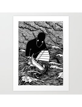 Umibōzu 海坊主 Art Print by Society6