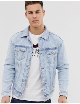 Hollister Denim Trucker Jacket In Super Light Wash by Hollister