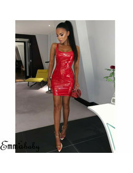 Sexy Womens Pu Leather Bodycon Short Mini Dress Wet Lingerie Club Wear Skirt Hot by Emmababy
