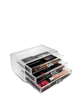 Acrylic 3 Large Drawer Cosmetics Makeup & Jewelry Storage Case Display by Sorbus