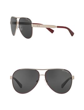 59mm Pilot Sunglasses by Ax Armani Exchange