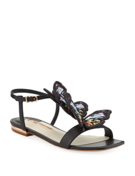 Riva Flat Butterfly Sandals by Sophia Webster