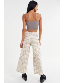 Bdg Easy Does It Plaid Wide Leg Jean by Bdg