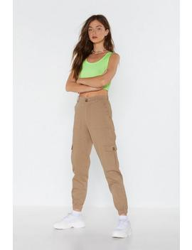 Canvas Trouser With Tort Belt by Nasty Gal
