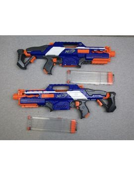 Lot Of 2 Nerf Rapidstrike Cs 15 Powered Dart Blaster Guns W/ Ammo Clips by Ebay Seller