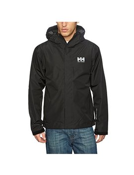 Helly Hansen Men's Seven J Waterproof, Windproof, And Breathable Rain Jacket With Hood by Helly Hansen